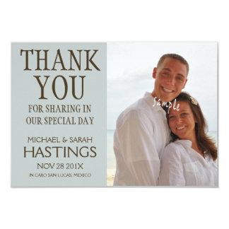 Danke, Hochzeit in Urlaubsort auf den Strand zu 8,9 X 12,7 Cm Einladungskarte