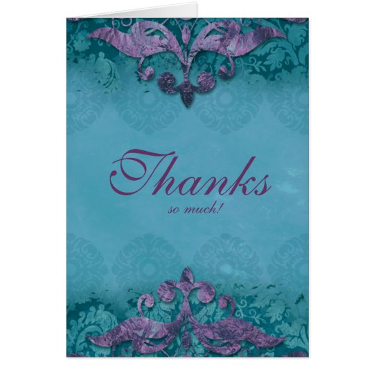 Danke, Hochzeitantiken Verdigris lila Tu zu Grußkarte