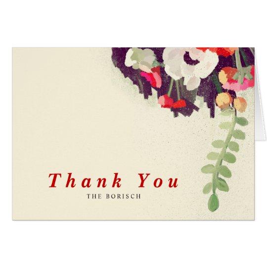 Danke Hochzeits-Anmerkungs-Karten-rote weiße Karte