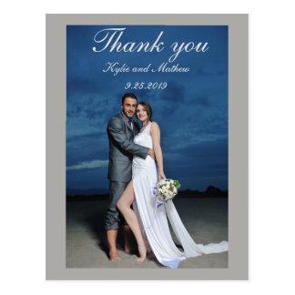 Danke Hochzeits-Foto Postkarte