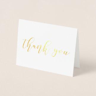 Danke Hochzeits-Karten WIRKLICHES GOLDfolie Skript Folienkarte