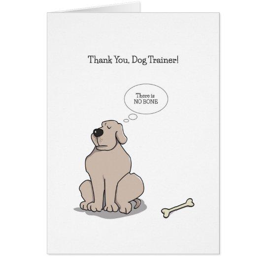 Danke Hundetrainer-Karten, lustiger HundeCartoon Karte