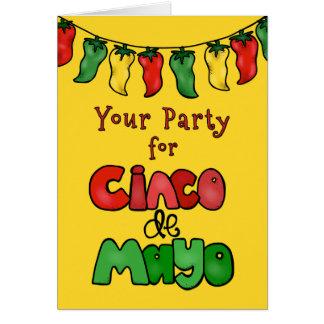 Danke! Ihr Party für Cinco De Mayo war heiß! Karte