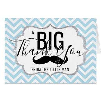 DANKE kleines Mann-Baby-Duschen-Blau   FOTO Karte