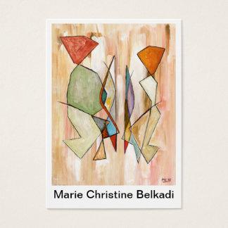 Danke, künstlerische bunte abstrakte Paare zu Visitenkarte