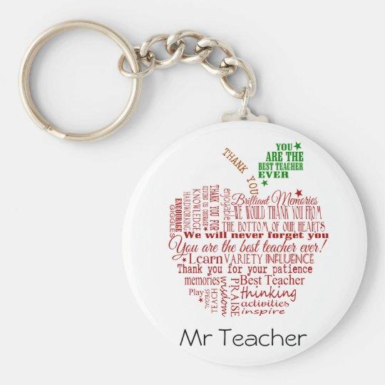 Danke Lehrergeschenk Standard Runder Schlüsselanhänger