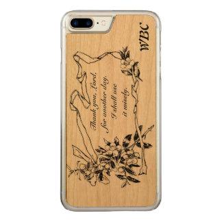 """""""Danke, Lord, für einen anderen Tag"""" Carved iPhone 7 Plus Hülle"""