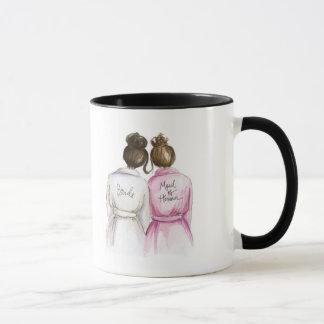 Danke Mädchen des Ehrendk-Br-Braut-Br-Mädchens Tasse