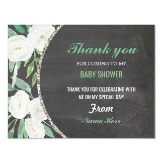 Danke Mädchen-oder Jungen-Babyparty-Blumenkreide Karte