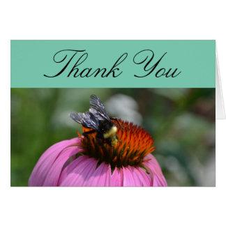 Danke mit Echinacea Grußkarte