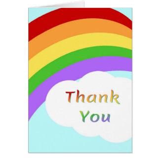Danke, mit Regenbogen zu kardieren Karte