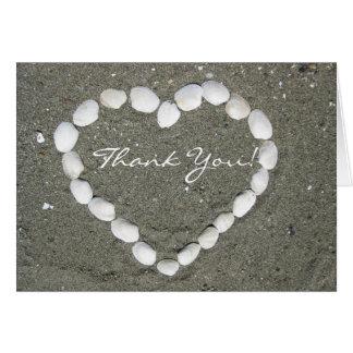 Danke Muschel-Muschelgrußkarte Grußkarte
