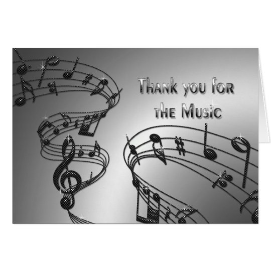 Danke - Musiknoten - Musical Karte