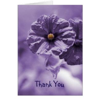 Danke Notecard mit lila Blume Karte