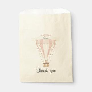 """""""danke"""" rosa Heißluftballon des Gastgeschenks Geschenktütchen"""