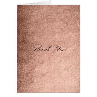 Danke rosa Rosen-Imitat-Pulver-Gold Karte
