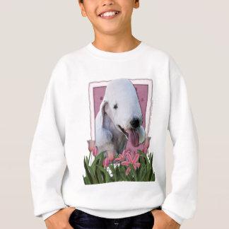 Danke - rosa Tulpen - Bedlington Terrier Sweatshirt