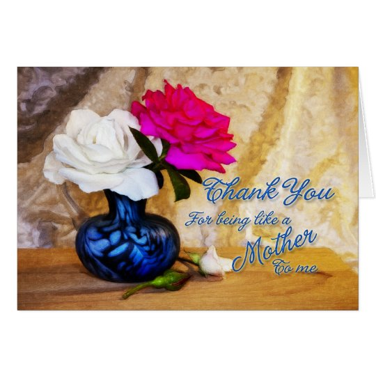 Danke Rosen für Sein wie eine Mutter zu mir Grußkarte