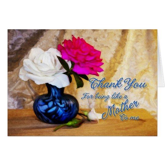 Danke Rosen für Sein wie eine Mutter zu mir Karte