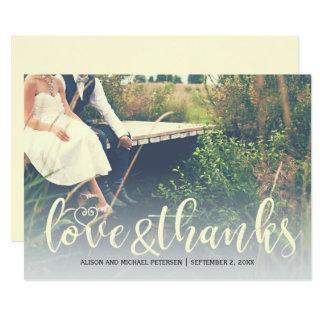 Danke rustikales Hochzeits-Foto des Landes 12,7 X 17,8 Cm Einladungskarte