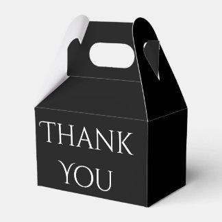 Danke Schwarzweiss-Hochzeits-Gastgeschenk Geschenkschachtel