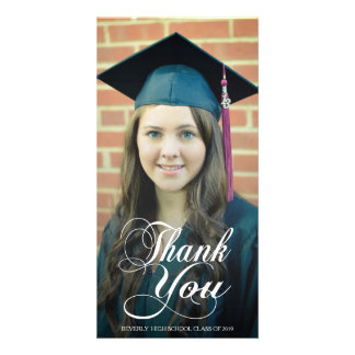 Danke Script Abschluss-Foto-Karten zu überlagern