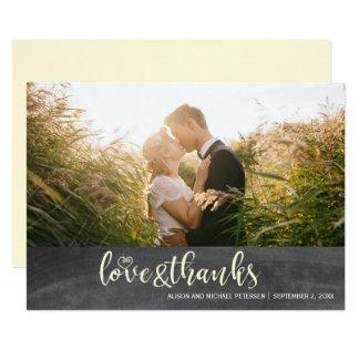 Danke script rustikales Hochzeits-Foto der Tafel 12,7 X 17,8 Cm Einladungskarte