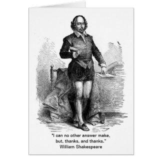 Danke, Shakespeare-Art! Grußkarte