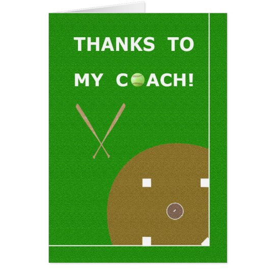 Danke Softball-Trainer-Gruß-Karten u. Geschenke Grußkarte
