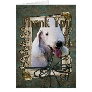 Danke - Steintatzen - Bedlington Terrier Karte
