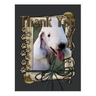 Danke - Steintatzen - Bedlington Terrier Postkarte