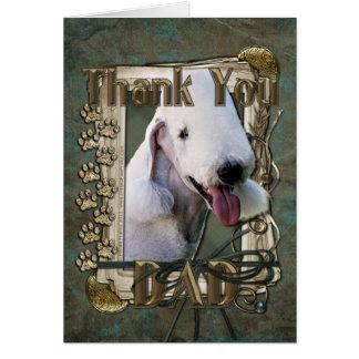 Danke - Steintatzen - Bedlington Terrier - Vati Karte