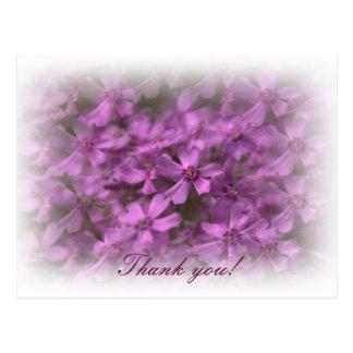 Danke - träumerische rosa Blumen Postkarten
