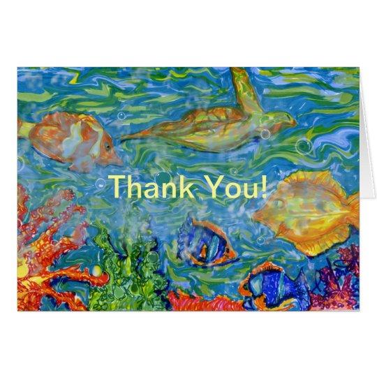Danke unter Seephantasiekunst Karte