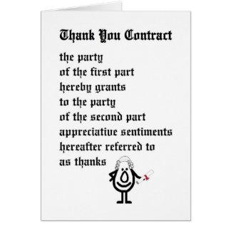 Danke Vertrag abzuschließen - ein lustiges legales Karte