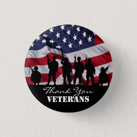 Danke Veterane Runder Button 3,2 Cm