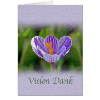 Danke, Vielen, das feucht ist, deutsch, Blumen Grußkarte