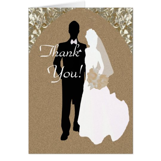 Danke von den Braut-und Bräutigam-Karten Karte