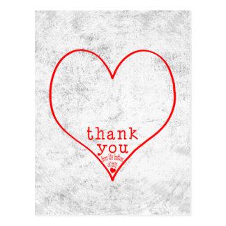 Danke von der Unterseite meines Herzens Postkarte