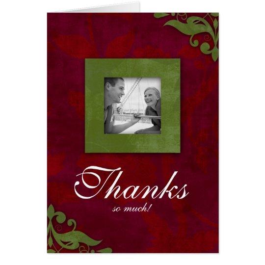 Danke, Weihnachtsrote grüne Hochzeit zu kardieren Grußkarte