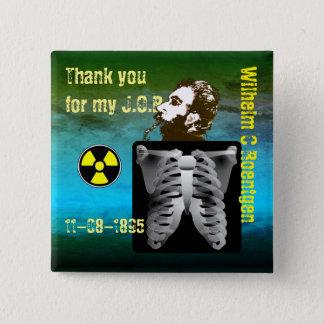 Danke Wilhelm C. Roentgen Quadratischer Button 5,1 Cm