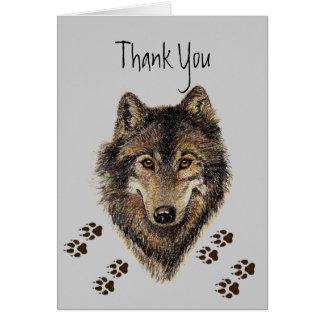 Danke, Wölfe, die Tier Wolf-Bahnen Karte