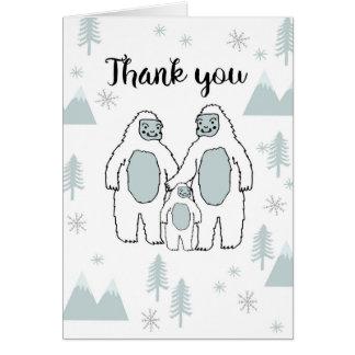 Danke Yeti-Baby-Karte durch Andrea Lauren Karte