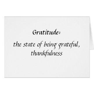 Danke zu kardieren: Dankbarkeit Mitteilungskarte