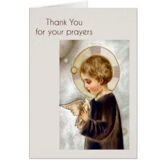 Danke zu kardieren für Gebete Karte