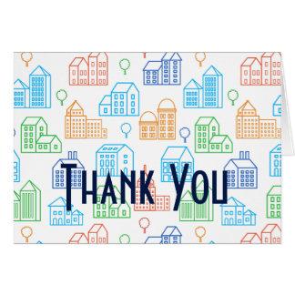 Danke zu kardieren für Grundstücksmakler- oder Karte