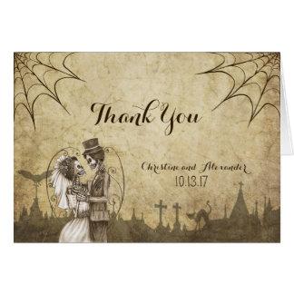 Danke zu kardieren für Halloween-Hochzeit mit dem Karte
