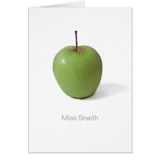 Danke zu kardieren für Lehrer - grünes Apple Karte