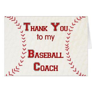 Danke zu meinem Baseballtrainer Grußkarte