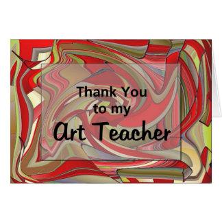 Danke zu meinem Kunstlehrer Karte
